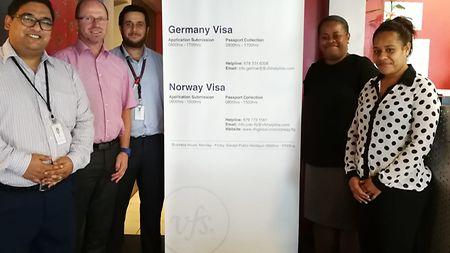 Visa Application Center in Suva/Fiji with Service provider